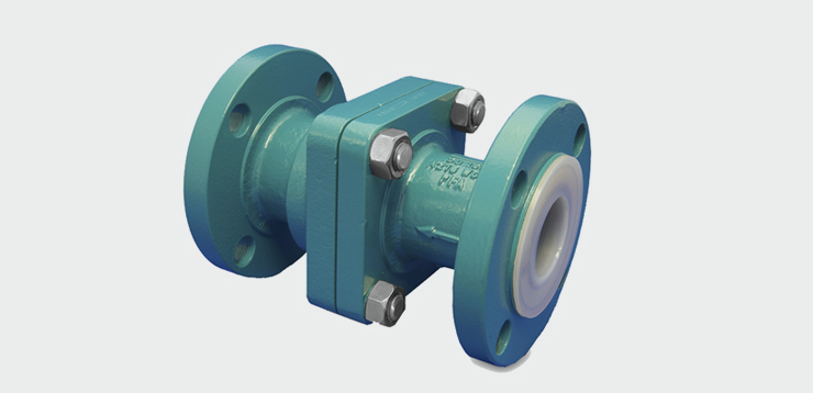 INTERAPP PFA LINED FPCV FLANGED POPPET CHECK