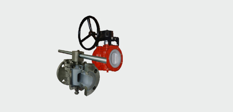 PFA Lined Sleeved Plug valves